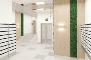 Подъезд ЖК «Расцветай» на Гоголя  оборудован двумя лифтами